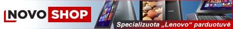 """NovoShop"" – specializuota ""Lenovo"" parduotuvė"